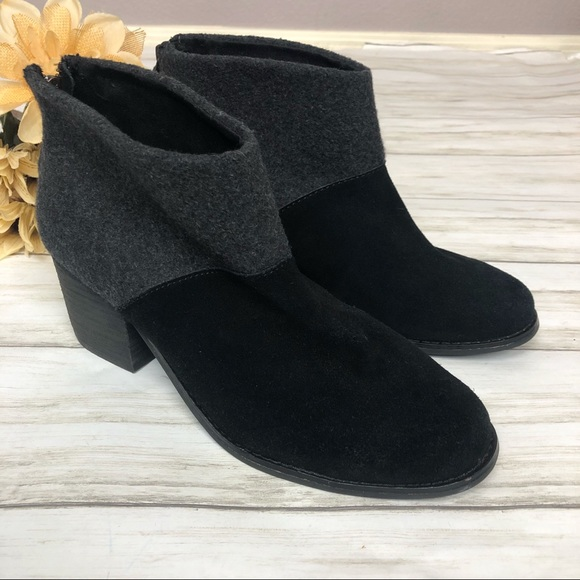 Toms Shoes | Leila Suede And Wool Ankle